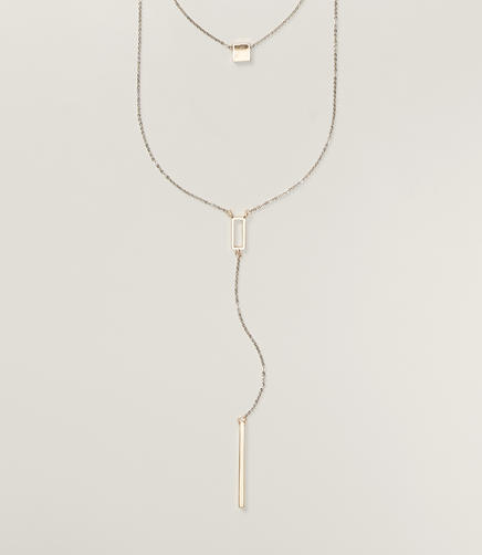 Image of Geo Lariat Necklace