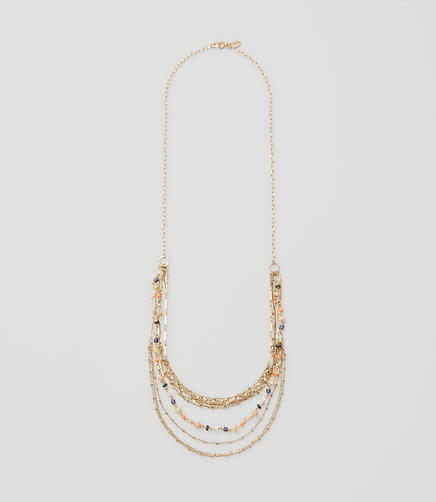 Image of Long Beaded Multistrand Necklace