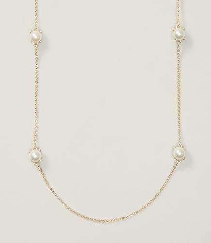Image of Pearlized Station Necklace