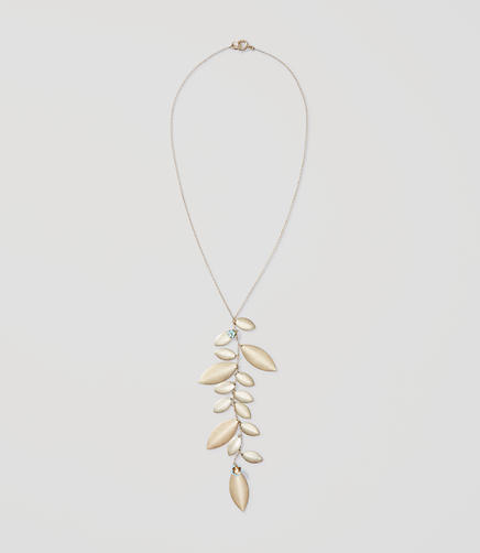 Image of Floral Metallic Leaf Necklace