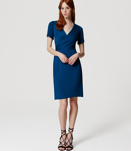 Image of Petite Wrap Effect Dress