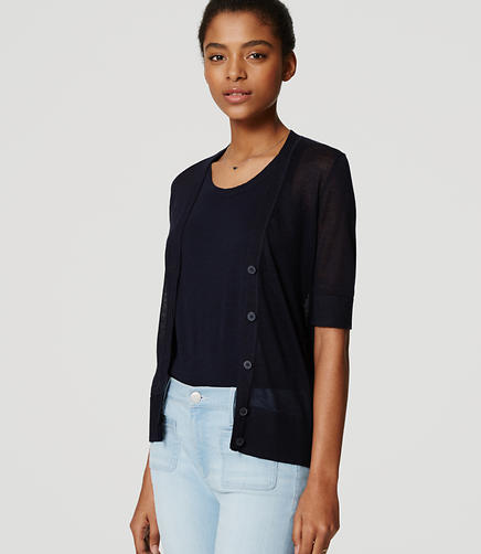 Image of Sheer Short Sleeve Cardigan