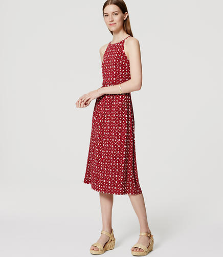 Image of Tall Lattice Halter Midi Dress