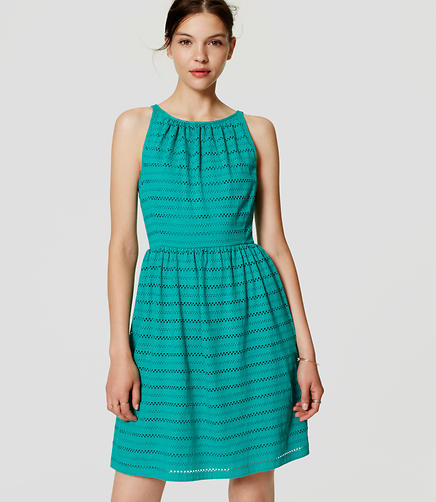 Image of Tall Eyelet Stripe Dress