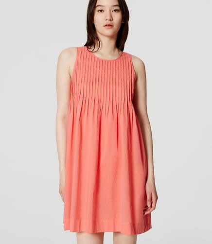 Image of Tall Pintucked Swing Dress