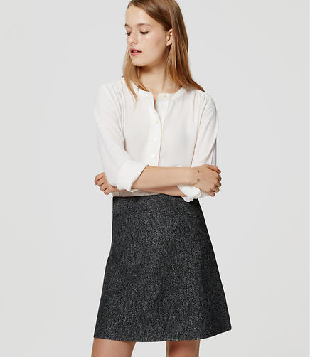 Image of Speckled Sweater Flippy Skirt