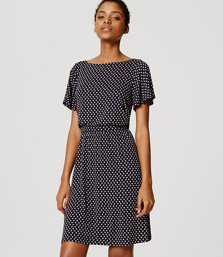 Image of Cluster Flutter Sleeve Dress