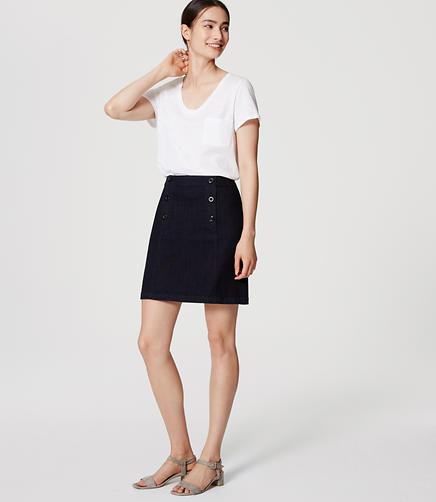 Image of Denim Sailor Skirt