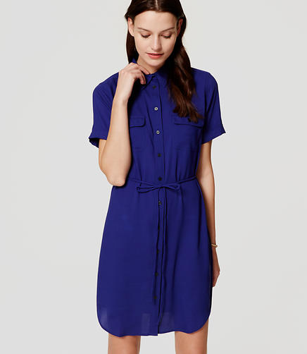 Image of Short Sleeve Shirtdress