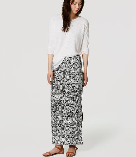 Image of Leafy Maxi Skirt