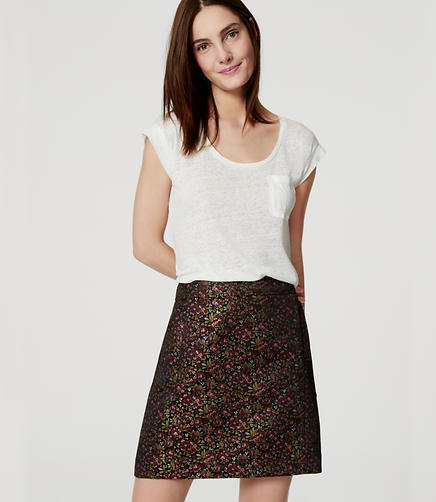 Image of Hydrangea Pocket Shift Skirt