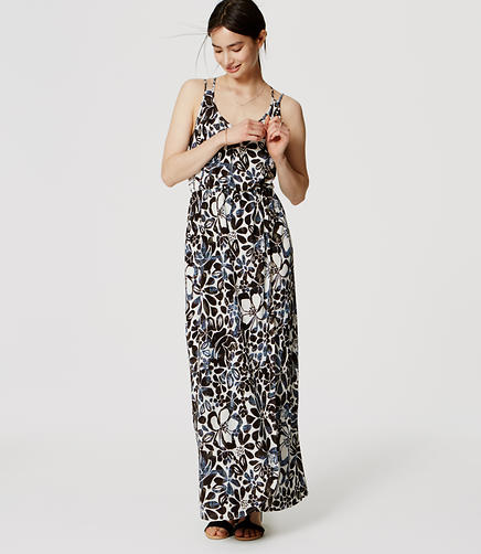 Image of Petite Sunwashed Floral Maxi Dress