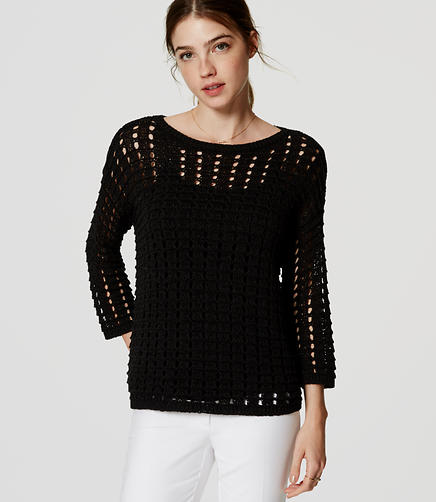 Image of Petite Open Stitch Sweater