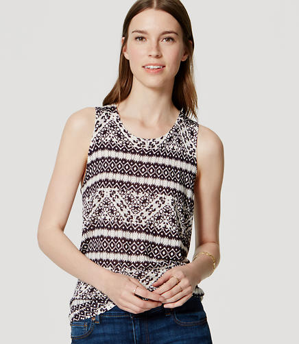 Image of Petite Mosaic Sweater Tank