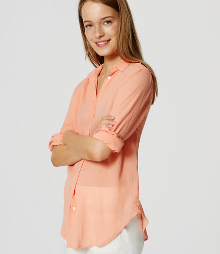 Image of Crinkle Softened Shirt