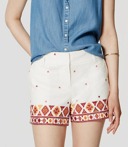 Image of Petite Fiesta Riviera Shorts with 3 1/2