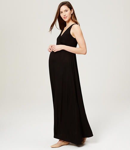 Image of Maternity Mosaic V-Neck Maxi Dress