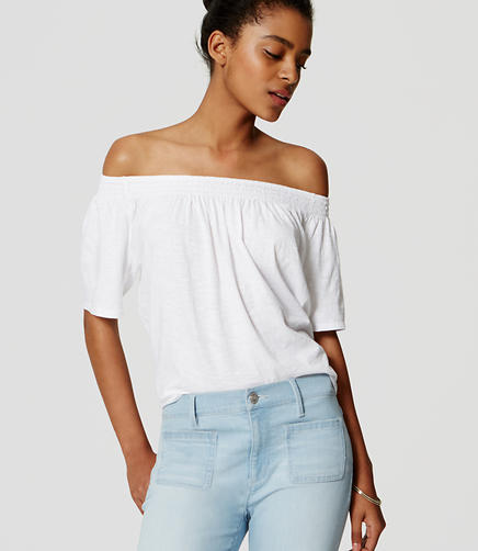 Image of Vintage Soft Off the Shoulder Tee