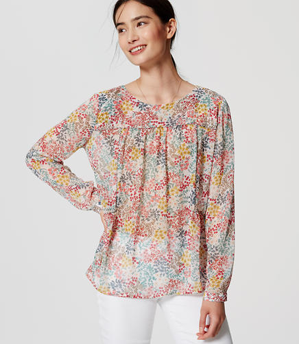 Image of Wildflower Piped Blouse