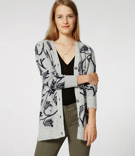 Image of Floral Jacquard Cardigan