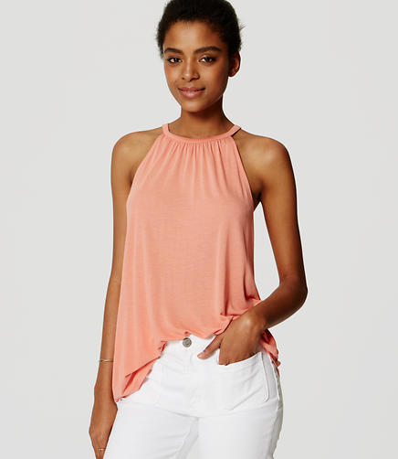 Image of Shirred Halter Top