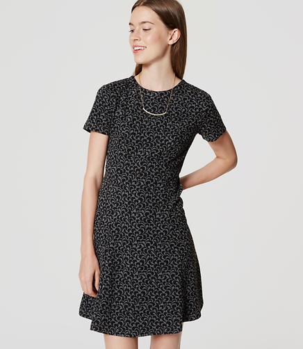 Image of Ivy Jacquard Flare Dress
