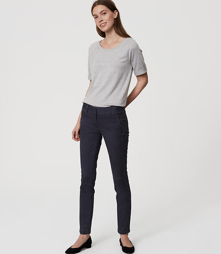 Image of Sanded Sateen Chinos in Marisa Fit
