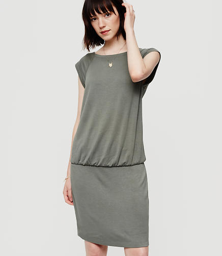 Image of Lou & Grey Signaturesoft Blouson Tee Dress