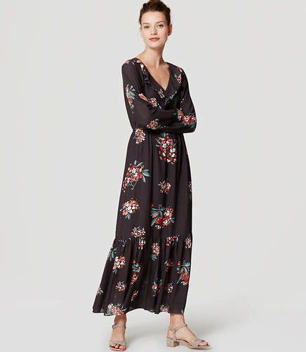 Image of Hydrangea Ruffled Maxi Dress