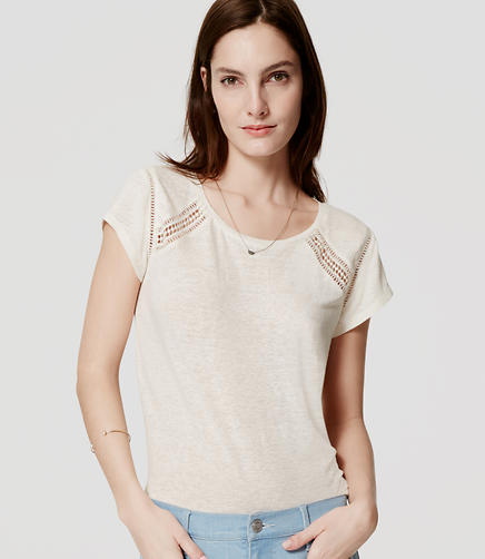 Image of Petite Ladder Lace Tee