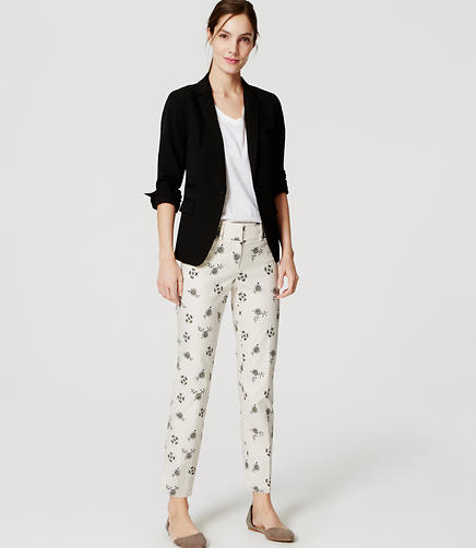 Image of Petite Meadow Floral Cropped Riviera Pants in Marisa Fit
