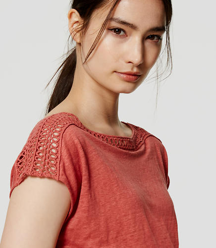 Image of Lacy Linen Shirttail Tee