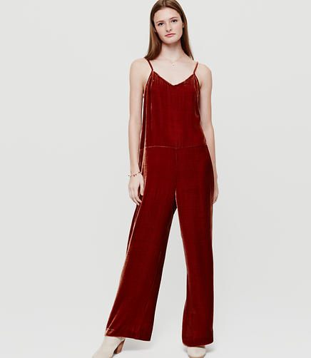 Image of Lou & Grey Velvet Jumpsuit