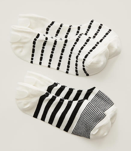 Image of Striped No Show Sock Set