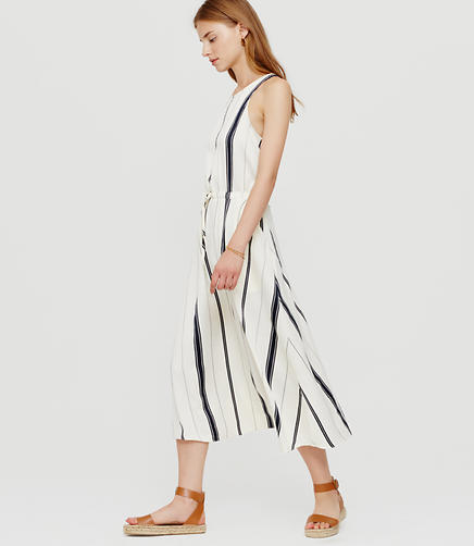 Image of Lou & Grey Coastal Fluid Cutout Midi Dress