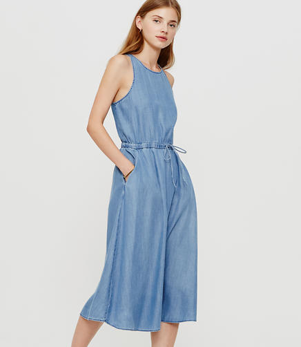 Image of Lou & Grey Chambray Cutout Midi Dress
