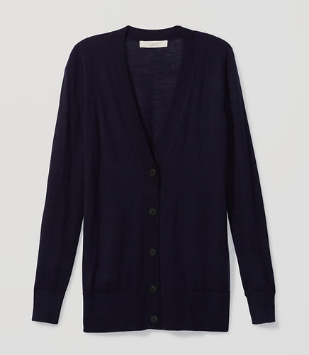 Image of Long V-Neck Cardigan