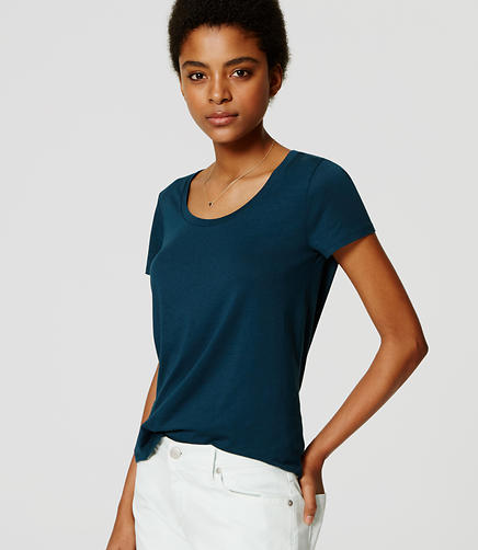 Image of Refined Scoop Neck Tee