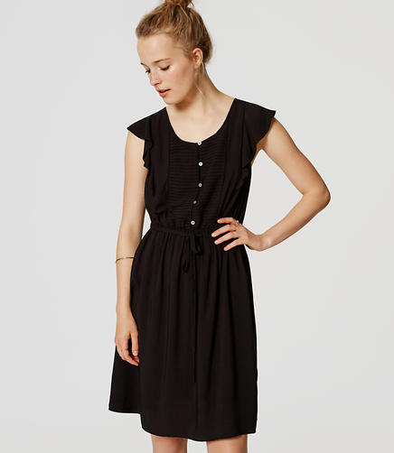 Image of Pintucked Flutter Dress
