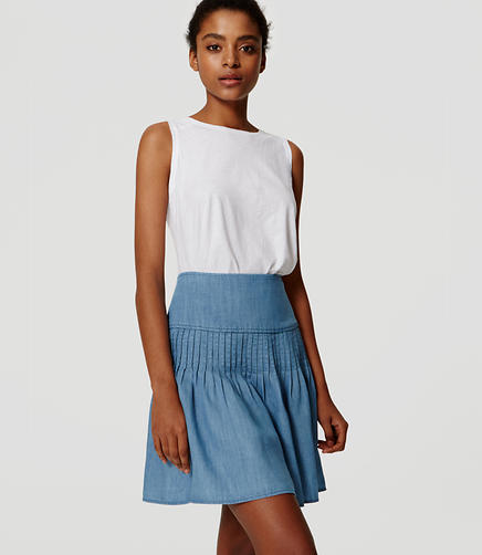 Image of Chambray Flippy Skirt