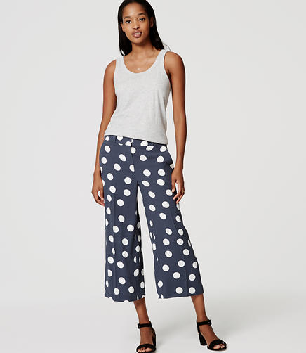 Image of Dot Fluid Culottes