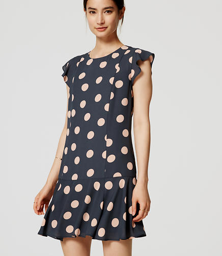 Image of Dot Flounce Dress