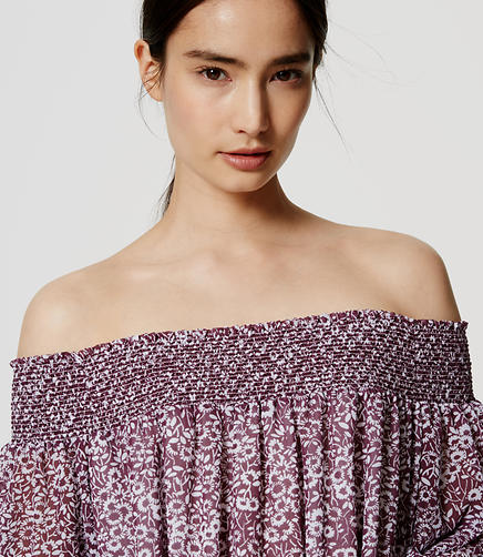 Image of Floral Off the Shoulder Blouse