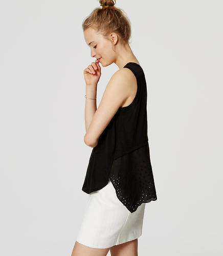 Image of Eyelet Back Tank