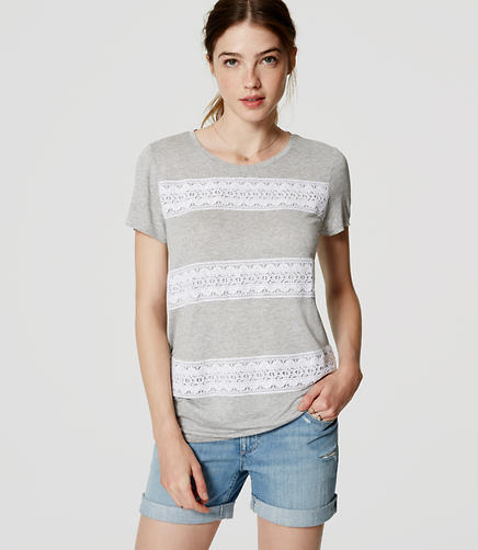 Image of Lace Stripe Tee