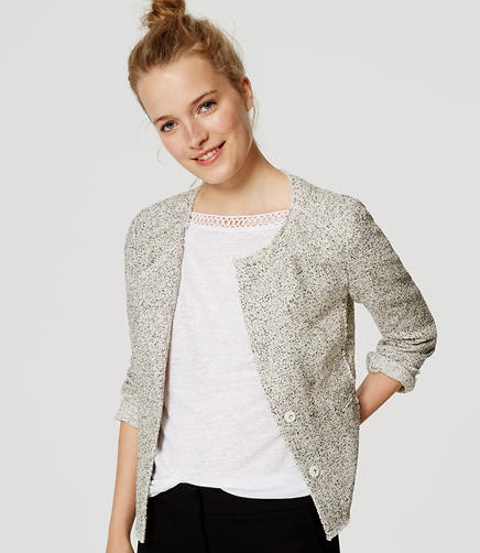 Image of Edged Tweed Jacket