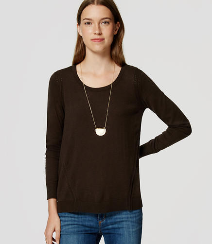 Image of Petite Stitched Tunic Sweater