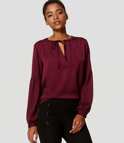 Image of Tie Neck Poet Blouse