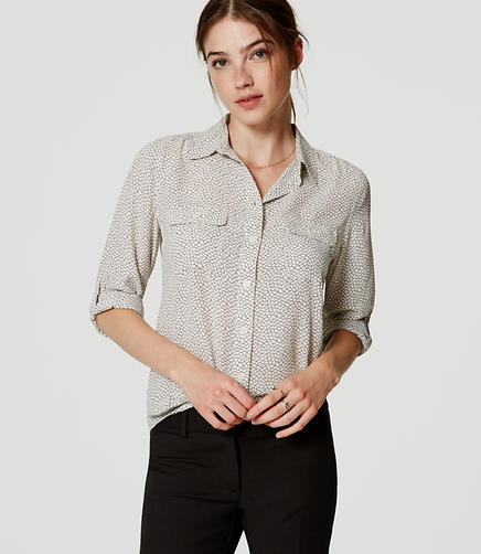 Image of Crackle Utility Blouse