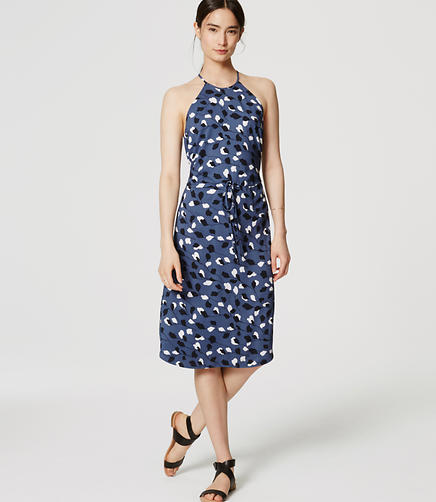 Image of Tall Vine Halter Midi Dress